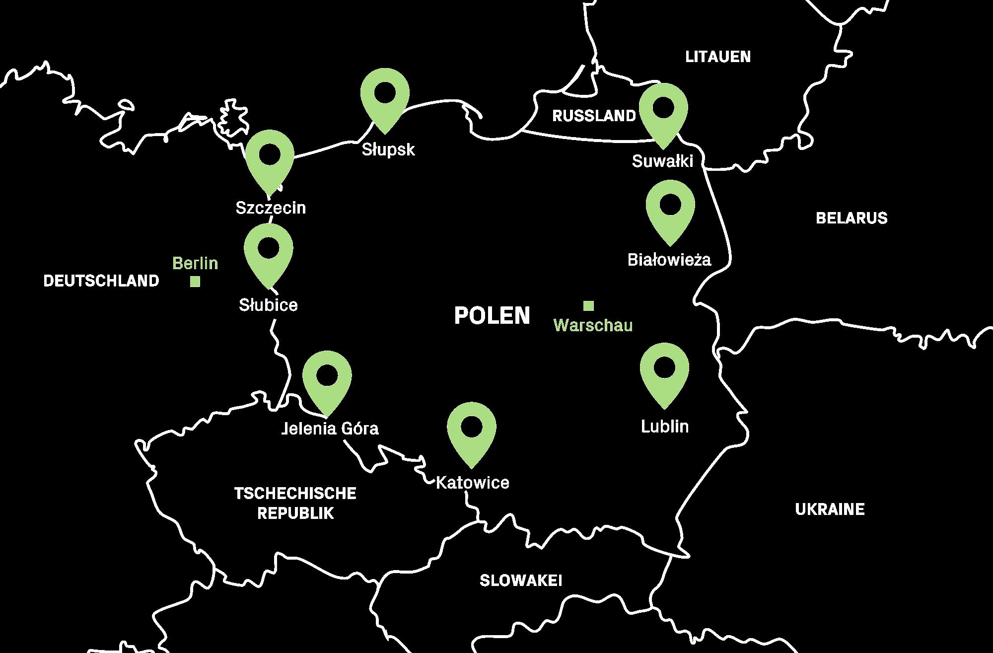 Karte Borderline De